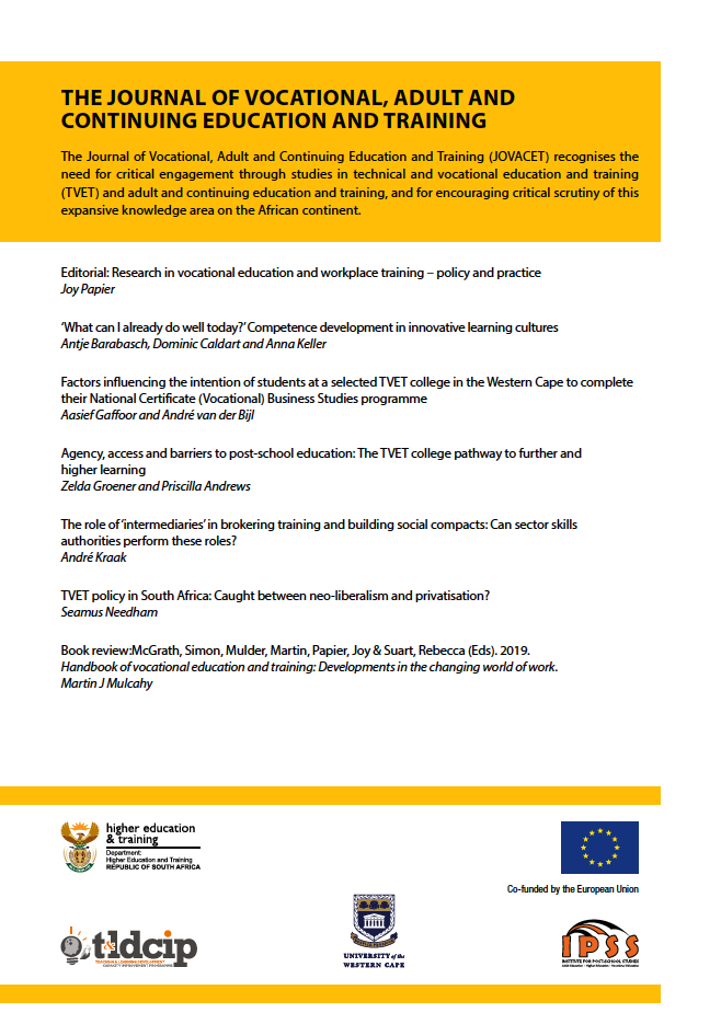 JOVACET Journal Volume 2, Issue 2 (2019) Back Cover